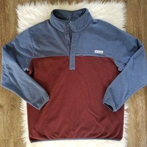 Columbia Blue Colorblock Half Snap Pullover Fleece